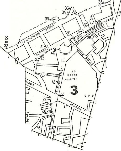 pub darkest london 1970s Office Decor city of london pubs map area 3