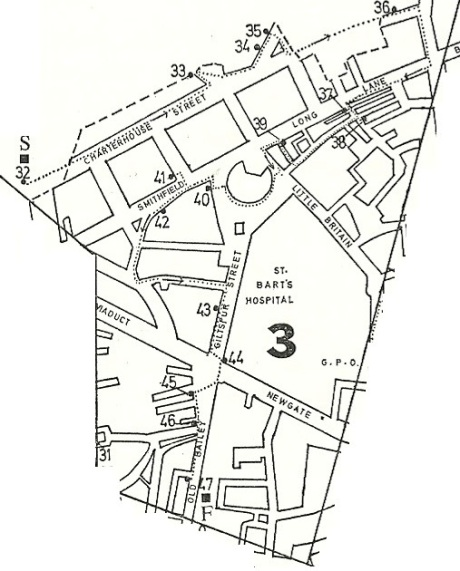 City of London pubs map Area 3